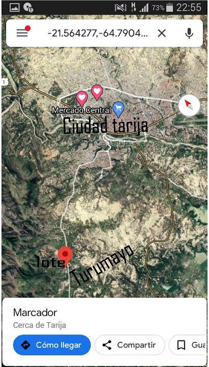 Terreno en Venta Lote de terreno de 800m2  Turumayo, Tarija Foto 2