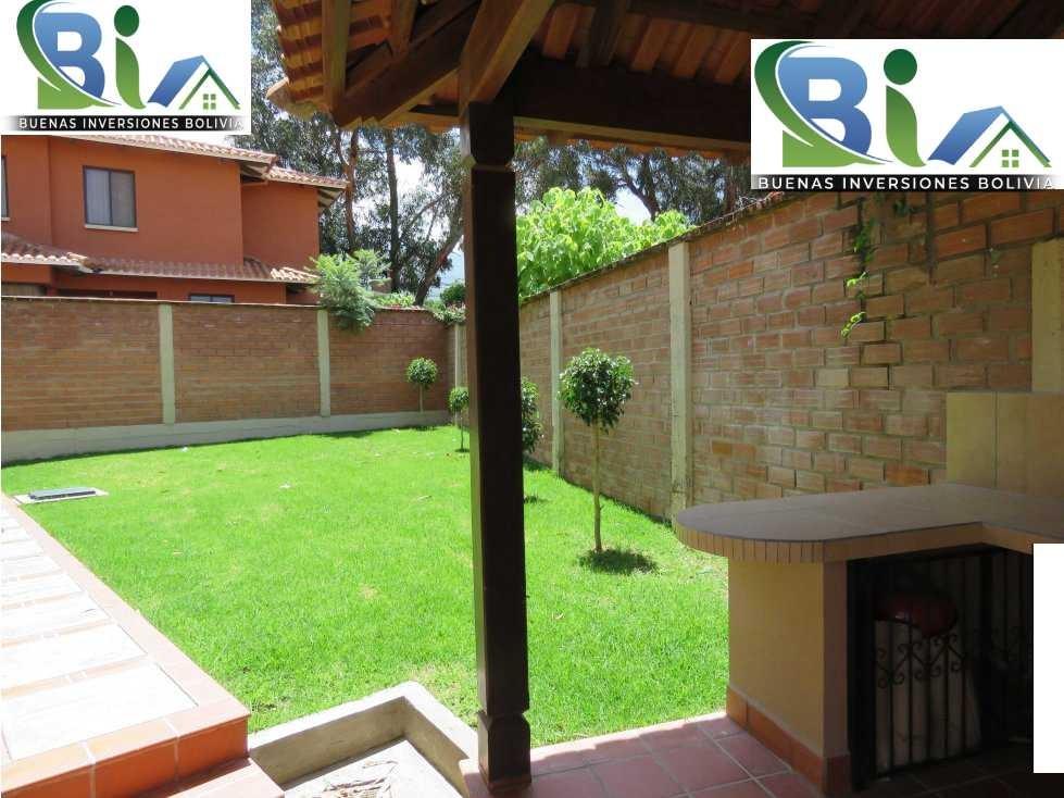 Casa en Alquiler $us.850 ALQUILER CASA 4 SUITES EN CONDOMINIO PROX. COL. TIQUIPAYA Foto 9
